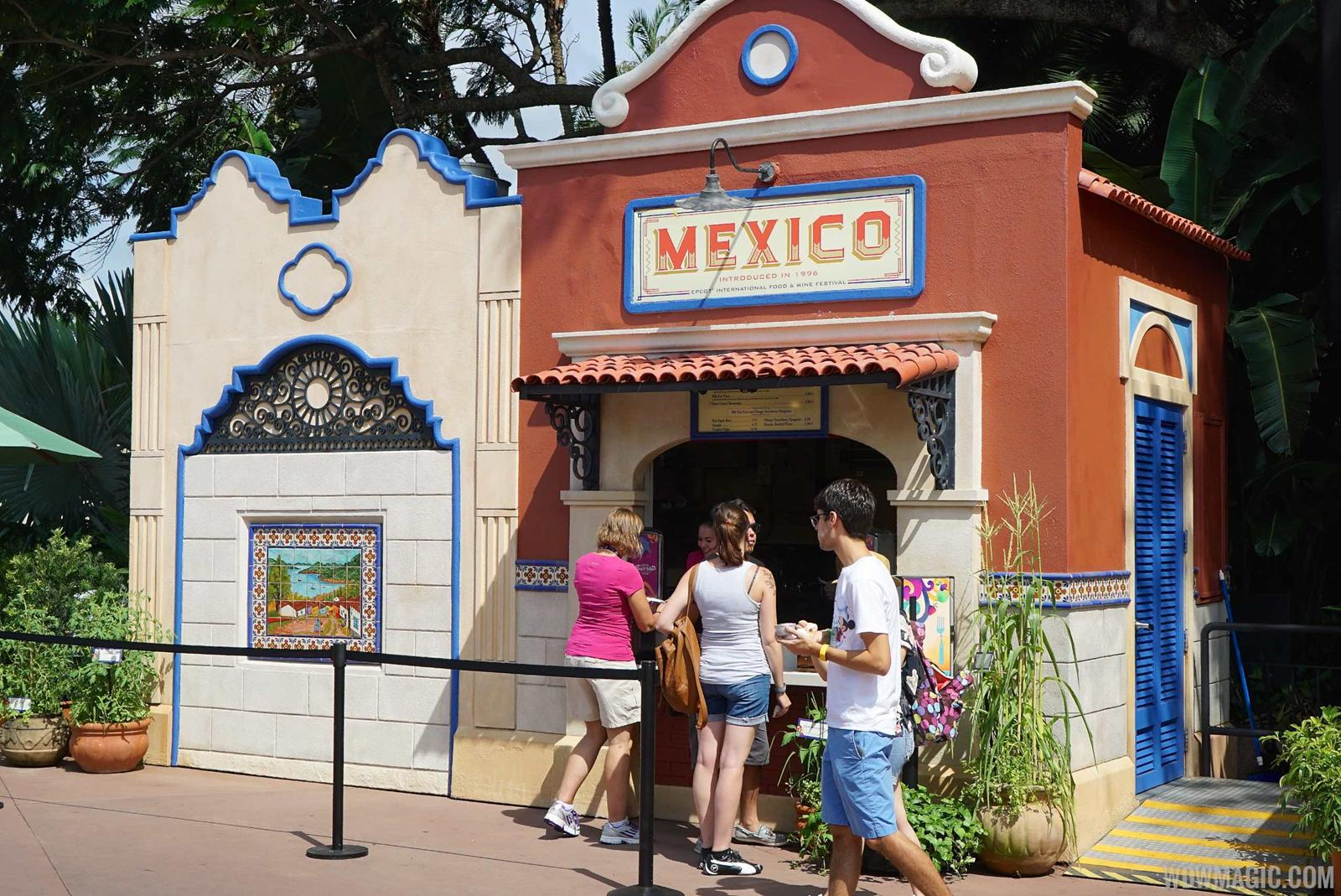 Mexico Food and Wine kiosk
