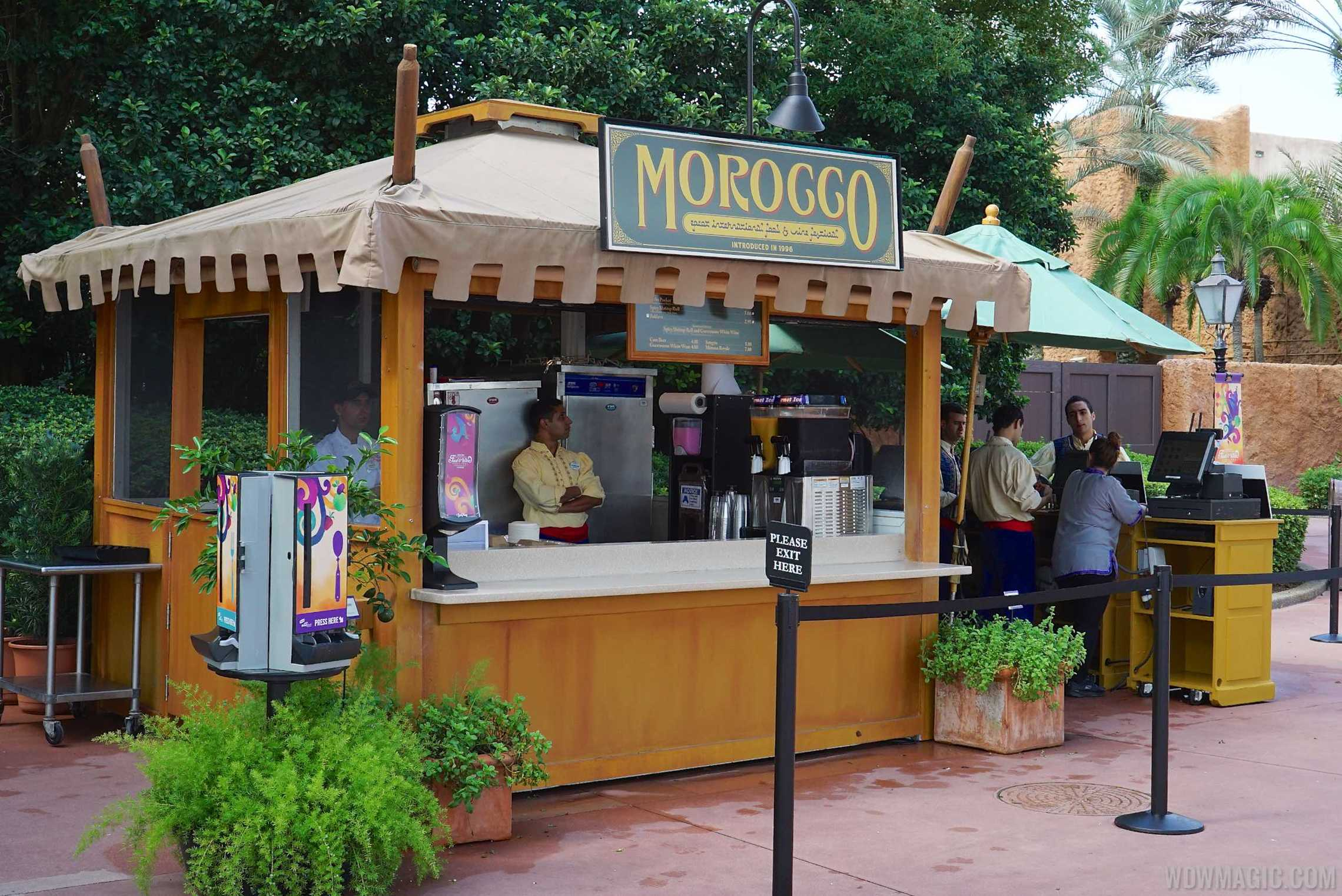 Morocco Food and Wine kiosk