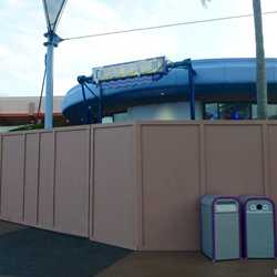 Fountain View Ice Cream walled off for Starbucks remodel