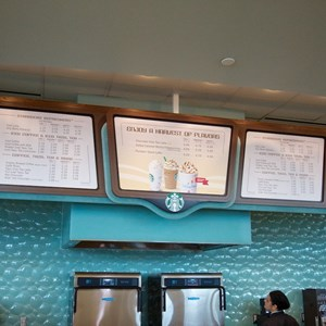 5 of 14: Fountain View Starbucks - Fountain View Starbucks - Menu board