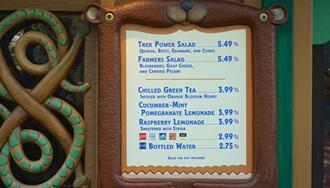Gardens Kiosk at Disney's Animal Kingdom has a new look and new healthy eating menu