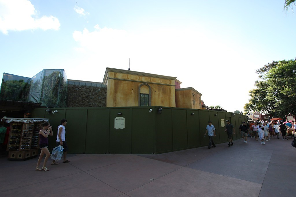 Construction walls down