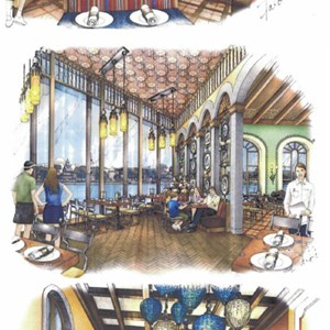1 of 1: La Hacienda de San Angel - Hacienda de San Angel interior concept art