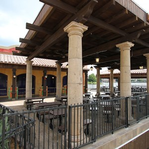 4 of 20: La Hacienda de San Angel - The outdoor dining area for the Cantina counter service