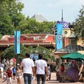 La Hacienda de San Angel - The view of the Hacienda from the World Showcase promenade