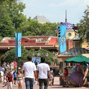 11 of 20: La Hacienda de San Angel - The view of the Hacienda from the World Showcase promenade