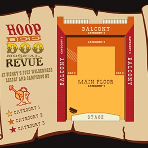 1 of 1: Hoop Dee Doo Musical Revue - Hoop Dee Doo Musical Revue seating plan