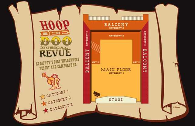 Hoop Dee Doo Musical Revue seating plan