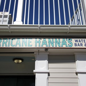 1 of 7: Hurricane Hanna's Waterside Bar and Grill - Newly refurbished Hurricane Hanna's Waterside Bar and Grill - signage