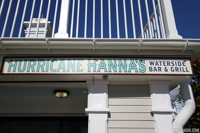 Hurricane Hanna's Waterside Bar and Grill - Newly refurbished Hurricane Hanna's Waterside Bar and Grill - signage