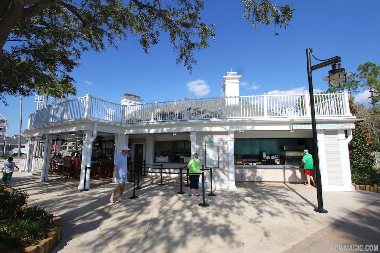 Newly refurbished Hurricane Hanna's Waterside Bar and Grill
