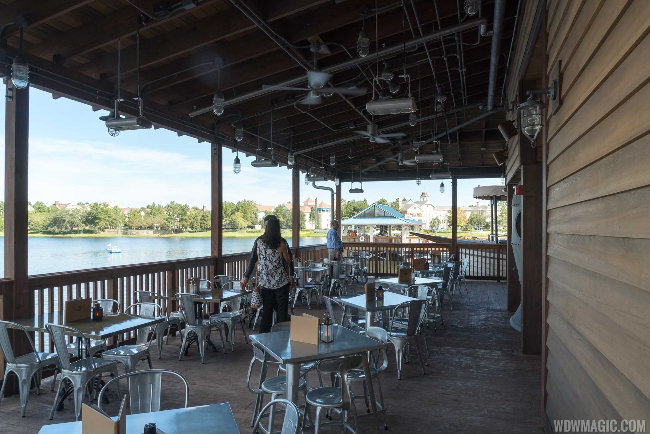 Jock Lindsey's Hangar Bar - Rear terrace overlooking the lake