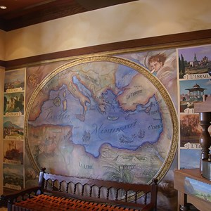 6 of 14: Kouzzina by Cat Cora - Mediterranean art is found on the walls of the lobby