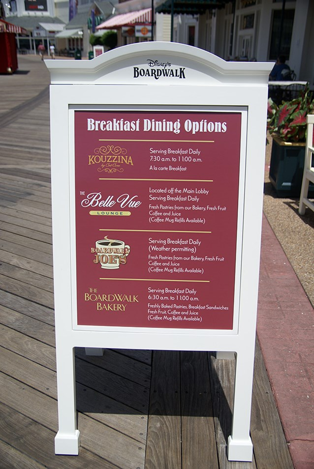Kouzzina by Cat Cora - All of the signage around the Boardwalk has been updated to include Kouzzina