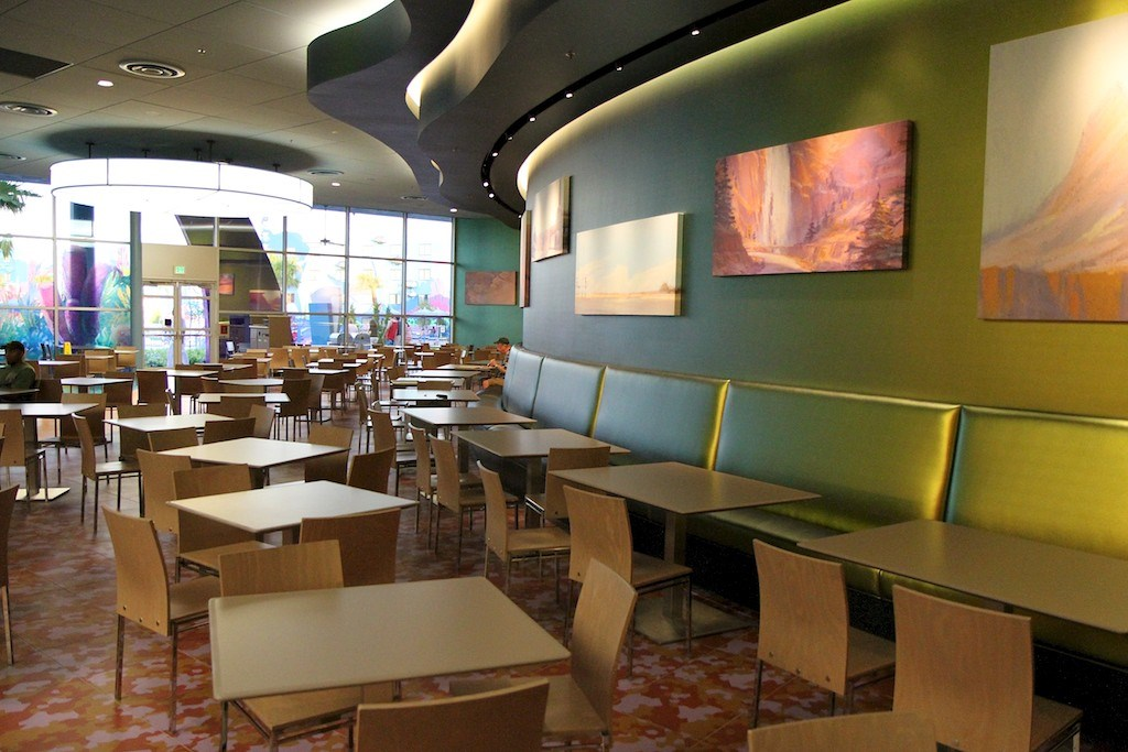 Landscape of Flavors dining room and menu items