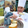 "Les Chefs de France - Famed French Chef Paul Bocuse greets a new Audio-Animatronics figure named ""Remy"" at Les Chefs de France restaurant at Epcot. Copyright 2009 The Walt Disney Company."