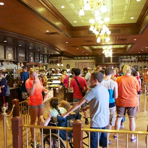 10 of 27: Main Street Bakery - Inside the Starbucks Main Street Bakery - the queue area