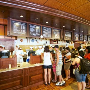 6 of 27: Main Street Bakery - Inside the Starbucks Main Street Bakery - Order area