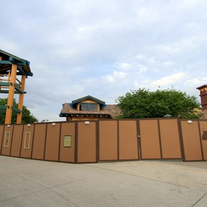 2 of 4: McDonald's Downtown Disney - Closed and walled off