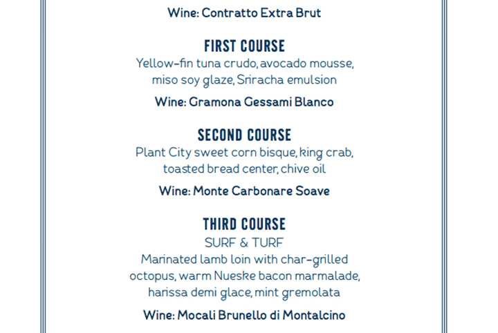 Tickets now available for a special four course wine dinner on the rooftop deck of Paddlefish