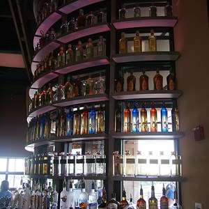 10 of 16: Paradiso 37 - The tequila tower at the main bar featuring 37 varieties of tequila
