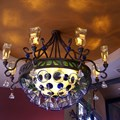 Paradiso 37 - One of the elaborate tequilla themed light fixtures at the entrance area