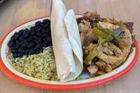 Fajita Platter with Barbacoa Beef and Chicken
