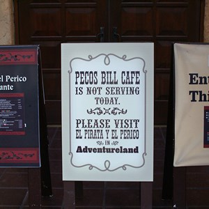 1 of 1: Pecos Bill Cafe - Pecos Bills closed for refurbishment