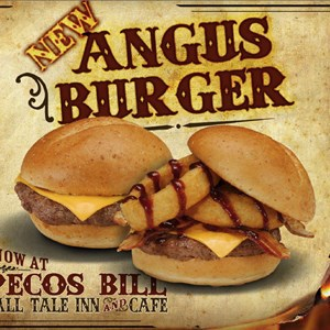 1 of 1: Pecos Bill Cafe - Pecos Bill Cafe angus burger