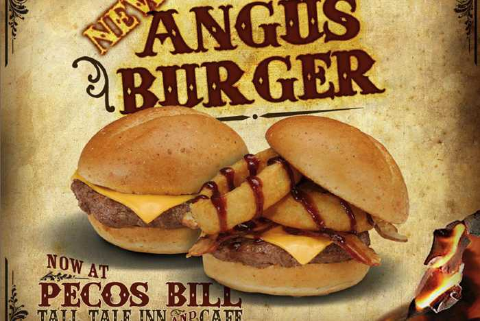 Pecos Bill Cafe angus burger
