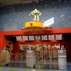 1 of 8: Pizza Planet - Pizza Planet dining areas and arcade
