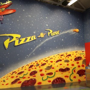 2 of 8: Pizza Planet - Pizza Planet dining areas and arcade