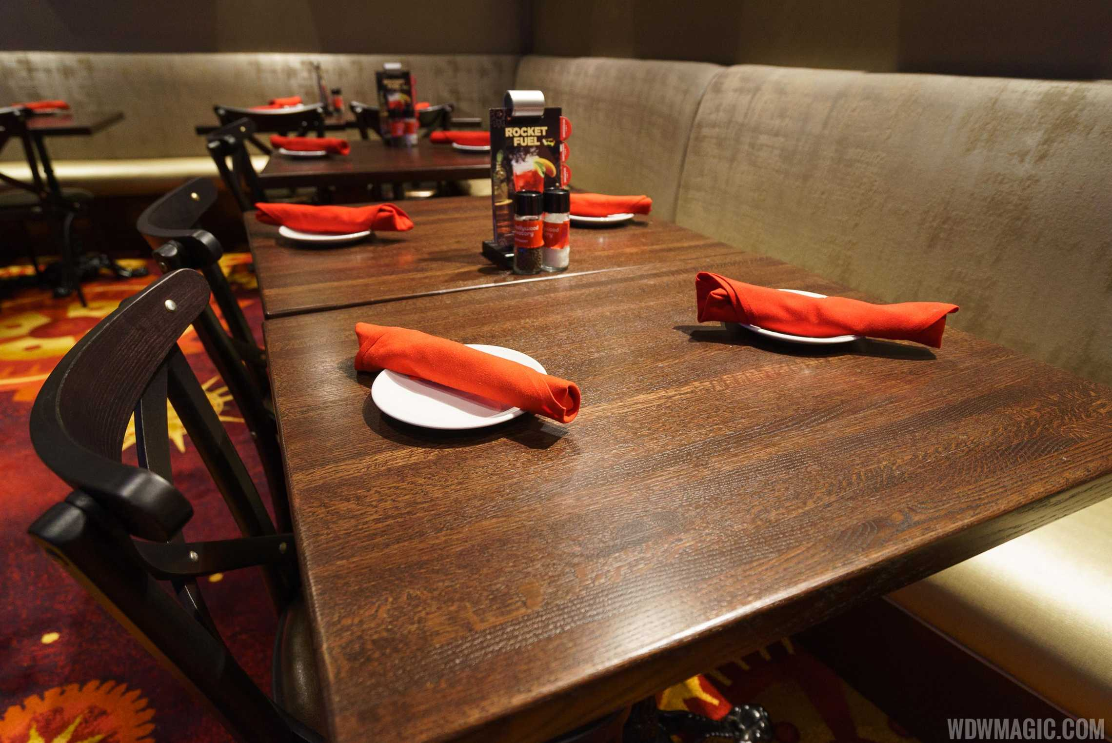 Planet Hollywood Observatory - Dining table