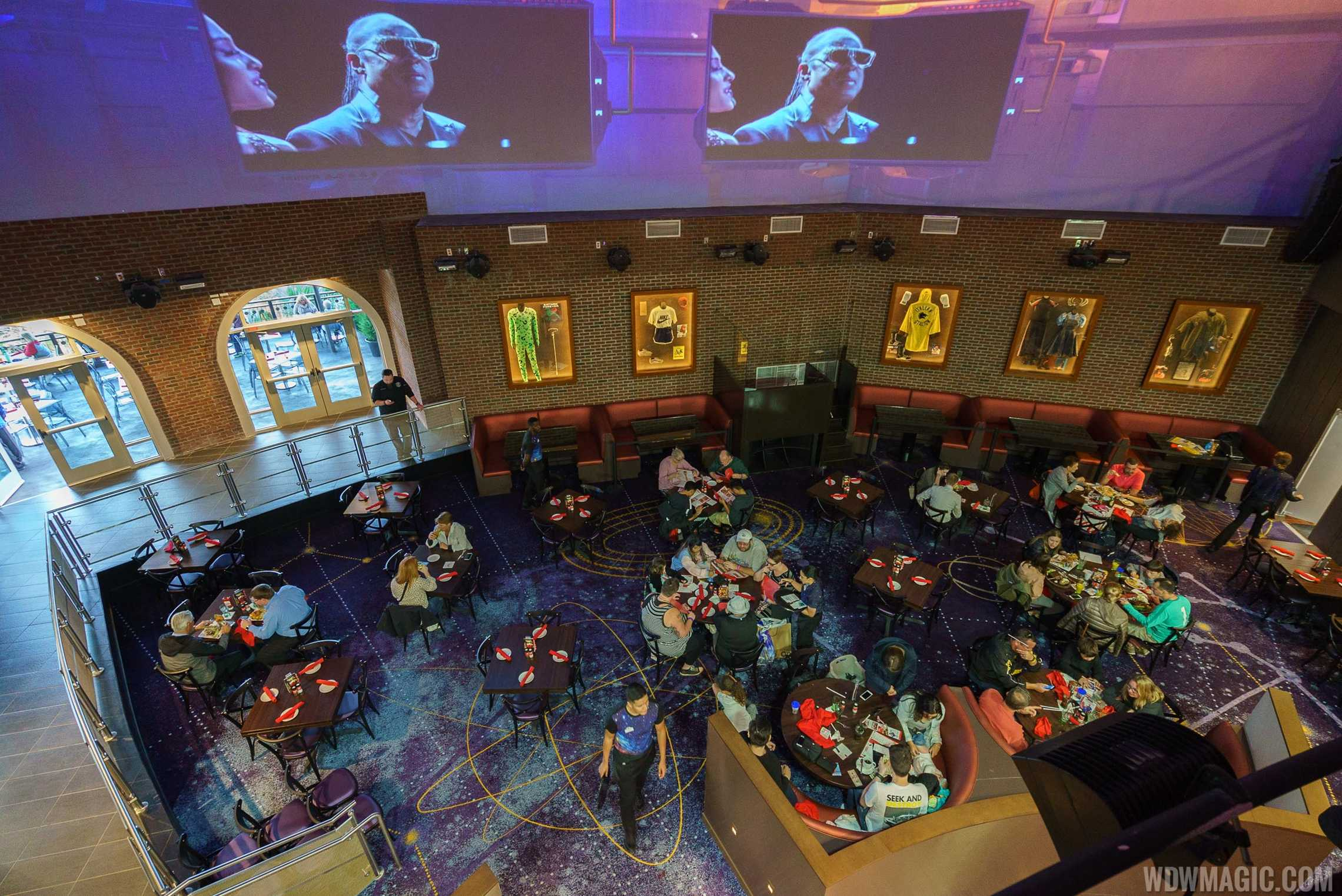Planet Hollywood Observatory - View from the second level onto the first
