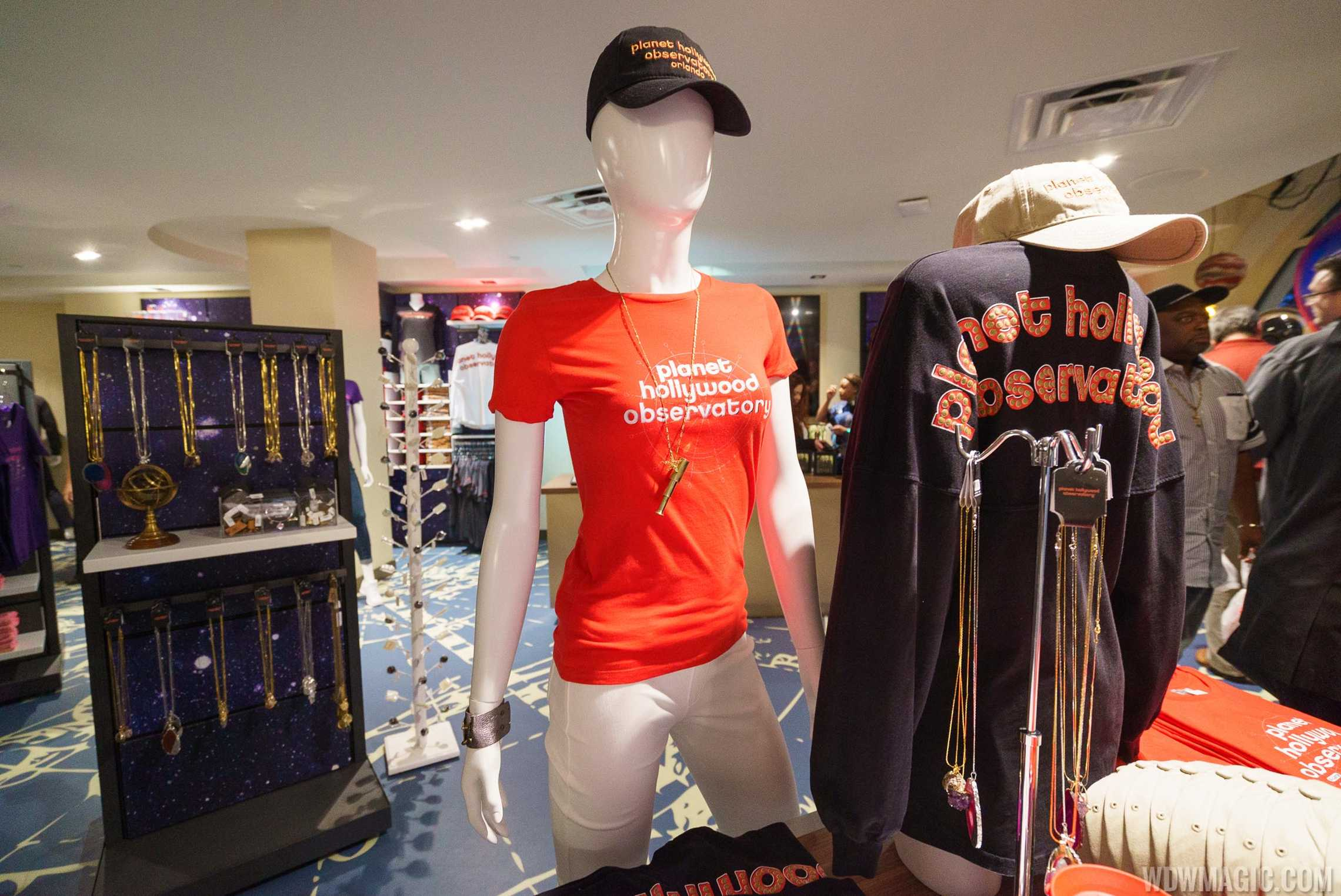 Planet Hollywood Observatory - Merchandise in the gift store
