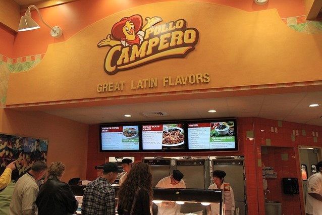 Pollo Campero - Counter service order and pickup area