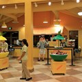 Pollo Campero - Grab and go items and the specialty drinks bar at the rear