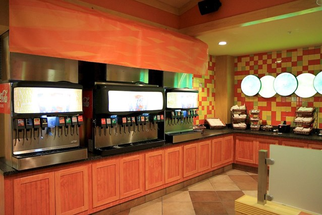 Pollo Campero - Self service beverage machines