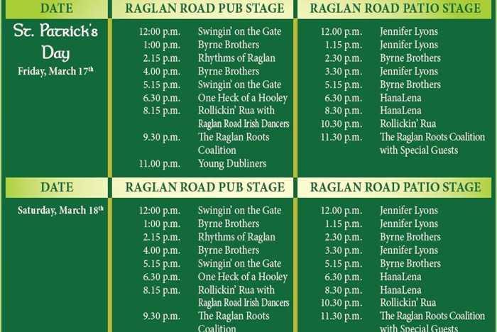 Ragland Road Mighty St. Patrick's Festival 2017 entertainment