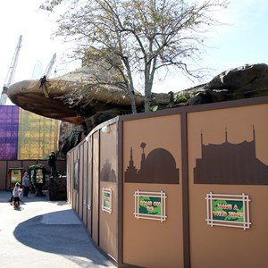 2 of 4: Rainforest Cafe - New exterior concept art and construction
