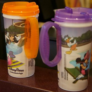2 of 6: Refillable Mug - Rapid Fill refillable mugs - purple and orange