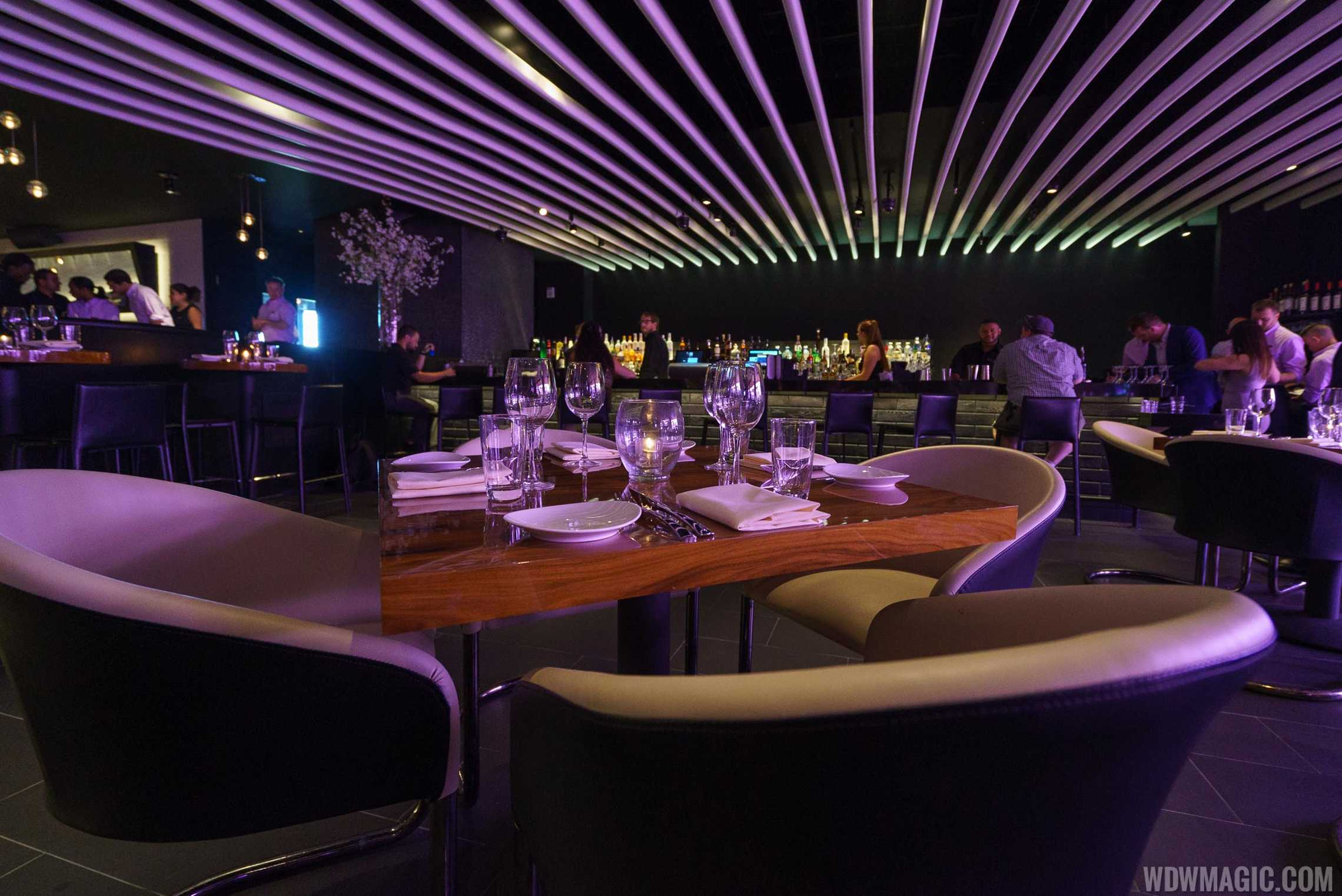 STK Orlando - Lower level dining room and bar area
