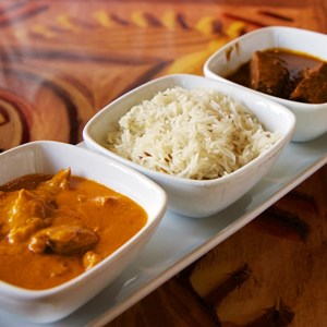 10 of 13: Sanaa - Sanaa lunch - Butter Chicken and Beef Short Ribs