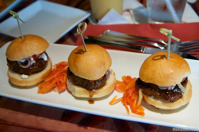 Sanaa - Sanaa lunch - Lamb Kefta Sliders Goat Cheese, Piquante Peppers, and Pickled Shallots