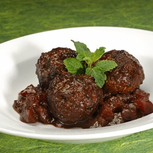 1 of 9: Sanaa - Lamb Kefta with Tamarind and Papaya Sauce.