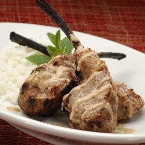 7 of 9: Sanaa - Tandoori Lamb Chops served with bsmati rice or seven-grain pilaf.