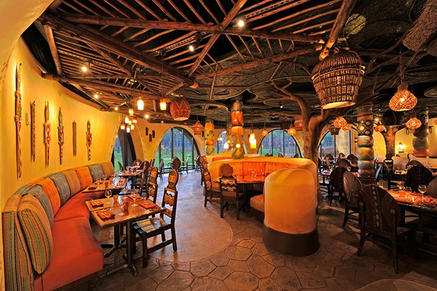 Sanaa - The Sanaa dining room. Copyright 2009 The Walt Disney Company.