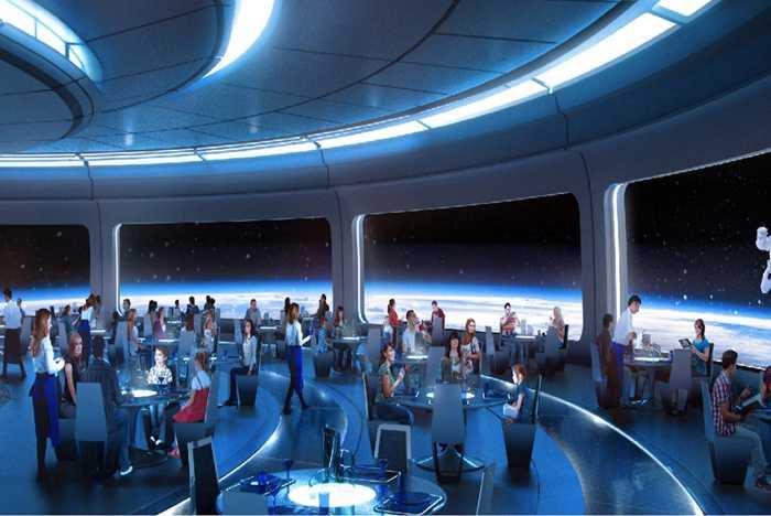 Space Restaurant concept art