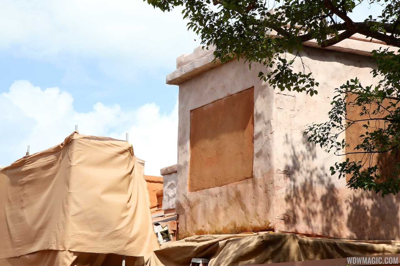 Epcot's Spice Road Table under construction
