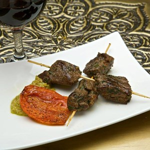 4 of 15: Spice Road Table - Spice Road Table food - Lamb Kebab